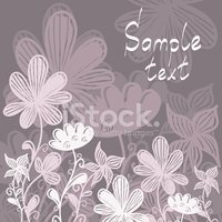 Pink gray floral background