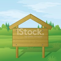 Sign,Wood - Material,Woodla...