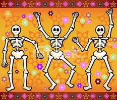 Day Of The Dead,Human Skele...
