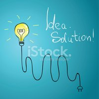 idea bulb with wire