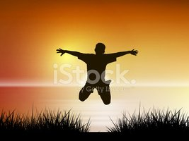 Jumping,Child,Silhouette,Jo...