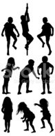 Child,Action,Silhouette,Pla...