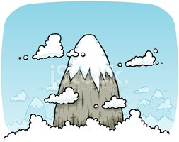 Mountain,Cartoon,Snow,Mount...