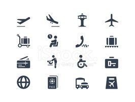 Airport,Symbol,Icon Set,Arr...