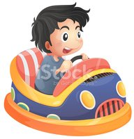 Bumper Car,Child,Driving,On...