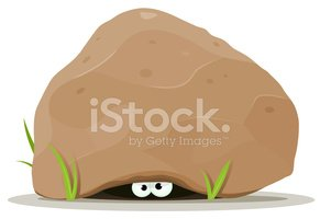 Hiding,Below,Rock - Object,...
