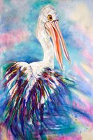 Oil Painting,Pelican,Impres...