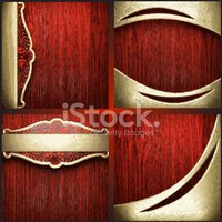Gold,Wood - Material,Red,Ye...
