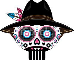 Day Of The Dead,Cowboy,Mexi...