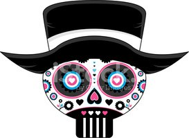 Human Skull,Day Of The Dead...