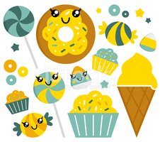Cute,Sugar,Cupcake,Vector,I...