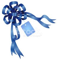 Bow,Blue,Gift,Space,Materia...