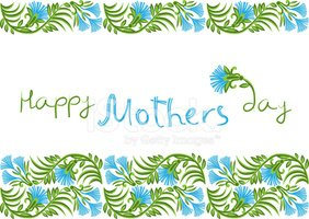 Mothers Day,Blue,Background...