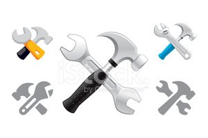 Claw Hammer and Wrench object icons