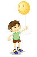 Child,Balloon,Smiling,Stand...