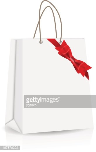 Shopping Bag,Empty,Ribbon -...