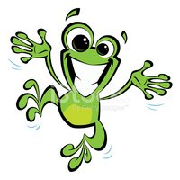 Frog,Jumping,Happiness,Chee...