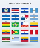 Central and South America Flags Collection
