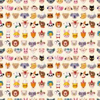 Raccoon,Pattern,Fox,Dog,Ani...