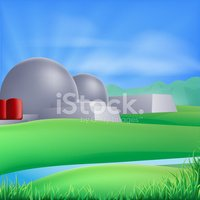 Nuclear Power Station,Dome,...