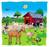 Farm,Barn,Horse,Animal,Cow,...