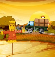 Farm,Nature,Scarecrow,Bird,...