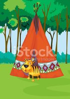 Teepee,Camping,Animal,Fores...