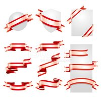 Ribbon Set (Red & White)