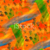 abstract texture orange, green art water color seamless backgrou