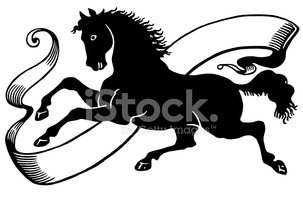 Horse,Animal,Black And Whit...