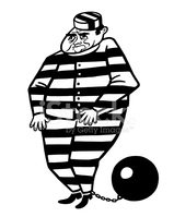 prisoner with ball and chain stock vectors clipart me