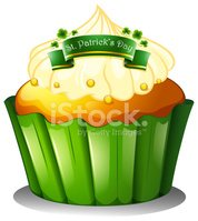 cupcake for the celebration of St. Patrick's day