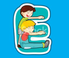 Letter E,Learning,Baby,Chil...