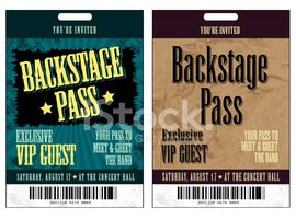 set of backstage pass template designs stock vectors clipart me