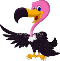 cute Vulture cartoon waving