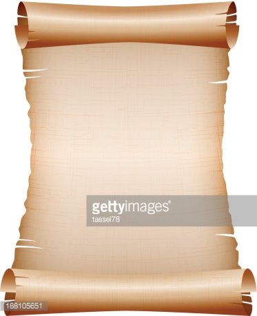 old blank scroll paper on white background stock vectors - clipart, Powerpoint templates
