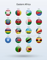 Eastern Africa Round Flags Collection