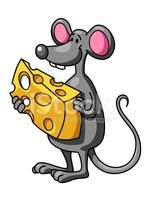 Cartoon,Rat,Cheerful,Cheese...