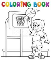 Coloring Book,Basketball,Ba...