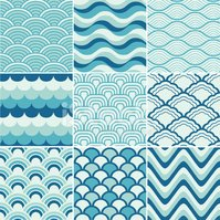 seamless retro wave pattern