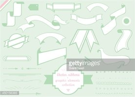 vector ribbons, labels and graphic elements collection