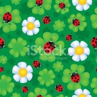 Flower,Ladybug,Abstract,Orn...