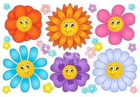 Flower,Ilustration,Smiling,...