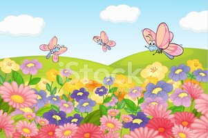 Nature,Striped,Blue,Pink Co...