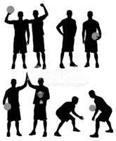 Silhouette,Basketball Playe...