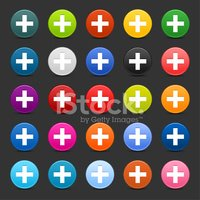Plus Sign Circle Icon Web Iternet Button Gray Background stock ...