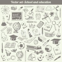 School And Education Vector Set