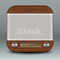 Radio,Old-fashioned,Vector,...