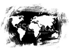 World Map,Map,Black Color,W...
