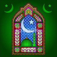 Islamic Stained Glass Painting